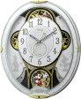 リズム時計工業 Disney ディズニー 電波からくり壁掛け時計 ミッキー&フレンズ M509 4MN509MC03 メロディー 音楽 白 ホワイト アナログ [ 御祝 御祝い お祝い 記念品 新築祝い 熨斗 ]【RCP】