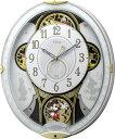 リズム時計工業 Disney ディズニー 電波からくり壁掛け時計 ミッキー&フレンズ M509 4MN509MC03 メロディー 音楽 白 ホワイト アナログ [ 御祝 御祝い お祝い 記念品 新築祝い 熨斗 ]