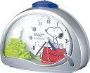 大人から子供まで、世界中みんなの人気者、スヌーピーの目覚まし時計です。リズム時計[シチズン]目覚し時計 スヌーピーR506 4SE506MJ19 シルバーメタリックアナログ