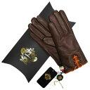 オロビアンコ OROBIANCO レディース手袋 ORL-1456 Leather glove 羊革/ウール DARKBROWN サイズ:7(20cm) ダークブラウン 女性用 レザー