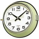 SEIKO セイコークロック 船舶時計 バス時計 防塵型 クォーツ掛け時計 KS474M アナログ 金属薄緑【成人式 お祝い】【父の日】【クリスマス】【RCP】