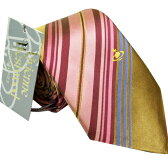 Vivienne Westwood ヴィヴィアン ウエストウッド ネクタイ ピンク×イエロー系 ストライプ fl78color1【 ビジネス 】 [ギフト プレゼント 成人式 お祝い]【バレンタイン】【父の日】【クリスマス】【RCP】