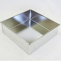 ブリキ 角デコ缶 180x180xH60 / スクエア型 製菓器具