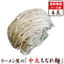 【メール便】【送料無料】【麺のみ】≪中太ちぢれ麺4玉セット≫※スープは付いていません。