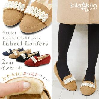 [kilakila][shoes]In heel  boa loafer.