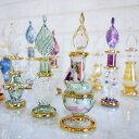 香水瓶 エジプトガラス クリスマス ギフト プレゼントおすすめ 3本セット 8~9cm×2cm エジプト土産 パフュームボトル トルコ 雑貨トルコ土産 香水瓶 ガラス ビン びん 瓶