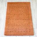 ギャッベ最上級の織り/ロリアタシュ・ミニサイズ58×40cmオレンジ・小さな小花