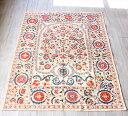 RoomClip商品情報 - SUZANI スザンニ・ウズベキスタンの刺繍布 アンティークデザインのリプロダクション173×136cmフラワーブーケ・大輪の花