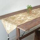 テーブルランナー・ウズベキスタン・アトラス(イカット・絣)シルク 158x40cm