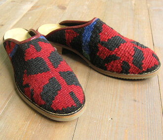 Slipper 36 leather and Kilim (23.5 cm) fs3gm