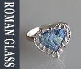 The Roman Glass Company ローマングラスカンパニー古代ガラスとシルバーのリング gsr320