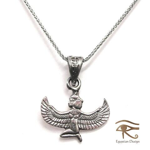 シルバー925ペンダント【レターパック可】(チェーン付)・【エジプトお土産】 Egyptian Silver Jewelry Pendant エジプト Egyptian Silver Jewelry Pendant イシス神 サイズ2 Isis Goddess of rebirth