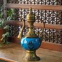 キュターヤ陶器/銅製 スルタンの水差しセルチュクブルー 36cm