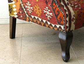 オールドキリムの木製家具・アームチェアW63×H95×D78cm家具キリム手織キリムトルコ産ウール100%輸入家具アンティーク家具インテリアトルコ【10P12Sep14】