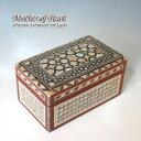 Mother of Pearl 螺鈿(らでん)のジュエリーボックスエジプト製イスラミックな幾何学