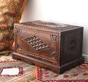 アンティークスタイル・トルコの宝箱サンドゥック・黒海地方の伝統様式 W53×H31×D33cm