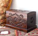 アンティークスタイル・トルコの宝箱サンドゥック・黒海地方の伝統様式 W53×H34×D33cm