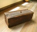 【9周年大感謝祭セール 15%OFF】トルクメン・アンティーク木彫りの細長い箱【送料無料】【smtb-F】【YDKG-f】