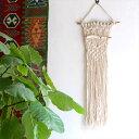 マクラメ・タペストリー流木を編み込んだ手作りナチュラル・BOHO Decor,
