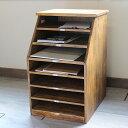 木製ファイルラック7段・マンゴーツリー書類ケース Old Maison