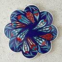 鍋敷き トルコ陶器 タイル チューリップ/ブルー