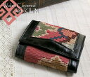  and leather three fold wallet ksf069Old Kilim &amp;amp; Lether Walet