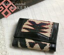 オールドキリム and leather three fold wallet ksf071Old Kilim & Lether Walet