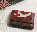  and leather three fold wallet ksf090Old Kilim &amp;amp; Lether Walet