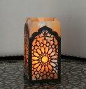 エジプト・アラベスクのアラバスター(鉱石)を使ったキャンドルホルダー・lparb01/癒し・リラックス・照明