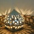 メタルシェード・スタンドランプ/Egyptian Metal shade Lamps, Handmade スタンドライト Φ15cm/Sogan シルバー色/アラベスク店舗照明・エスニック・BOHO・輸入照明