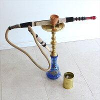 トルコの水タバコ・シーシャ(ナルギレ)・インテリアやオブジェに70.5cm/ブルー/要メンテナンス OUTLET・難あり
