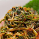 小松菜キムチ歯応えが良く、青菜ならではのほろ苦さがキムチの薬念(ヤンニョン)と相まって、絶妙の味わいを生み出します