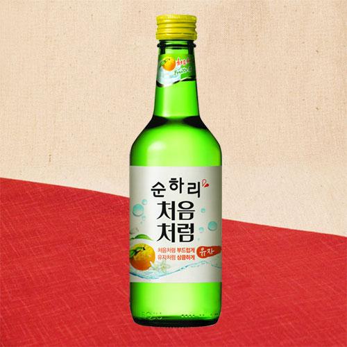 韓国仕様スンハリチョウムチョロム柚子焼酎(正規輸入品)360ml×6本