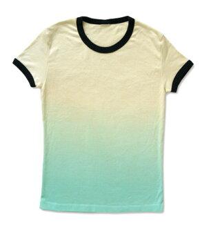 Gradient 02 - gradation ladies ringer t-shirt