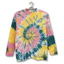 タイダイ染め 長袖 Tシャツ 6.2オンス ロングスリーブ Tシャツ : LTS-024