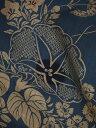 竺仙鑑製浴衣地 奥州小紋 朝顔と季節の花々 藍【竺仙】【浴衣】【奥州小紋】【朝顔】【送料無料】【smtb-k】【ky】