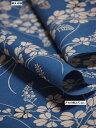 竺仙鑑製浴衣地 奥州小紋 萩の柄 藍色に薄茶【ちくせん】【ゆかた】【夏祭り】【送料無料】