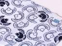 ショッピング送料込 竺仙鑑製浴衣地 綿絽 ふくらすずめの柄 白地に紺【ちくせん】【ゆかた】【福来雀】【夏祭り】【送料無料】【smtb-k】【ky】【1004】綿絽洗える小紋