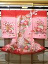女児用産着 夏用 絽 手毬に花々 赤とピンク【smtb-k】【ky】