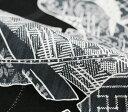 ショッピング大人 nonoの大人本格浴衣「kyora 芭蕉 黒色」綿麻【反物】未仕立て・お誂え