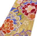 振袖用 熨斗に桜 リサイクル 着物 成人式 結婚式 結納 パーティー 振袖 露草色 袋帯 A520-17 【中古】