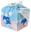 包むと柄が立体的に♪ シャンタンチーフ 小風呂敷 《花衣》 富士山 【ハンカチ】【ランチクロス】【お土産】【50cm】