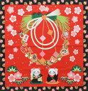 四季彩布 和柄 シャンタンチーフ 小風呂敷 一月 お正月 【ハンカチ】【ランチクロス】【50cm】 【日本製】