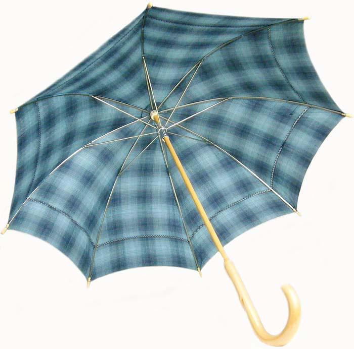 西陣 真綿紬 着物生地 日傘 正絹 絹 和装 着物に合う京都(日本製)仕立て 少し贅沢な西陣紬の日傘ですオリジナル商品【古川みつえ】