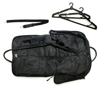 [Shoulder Bag for Kimono]  Black Quilting w/ 2 hangers