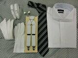 10P22Jul14結婚式?ブライダル?ワイシャツレンタル 【ネクタイ?小物がすべて付きます】