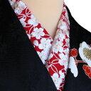 半襟 刺繍半襟 振袖用 赤 成人式 卒業式 半衿 振袖用 訪問着用 金糸 七宝梅宝尽くし文 婚礼衣装用 礼装用「衿秀」刺繍半衿 洗える ポリエステル ししゅう半衿