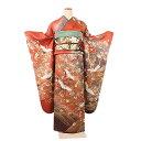 レンタル振袖セット・赤橙地(対応身長:150cm〜163cm...