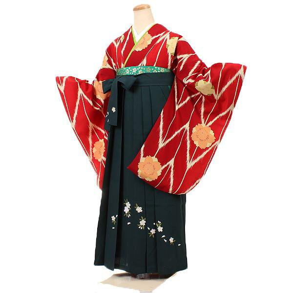 女性用袴・赤地の商品画像