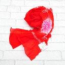 【赤色】ナイロン子ども兵児帯 kh-05子兵児 兵児帯 こども浴衣用 ゆかた用